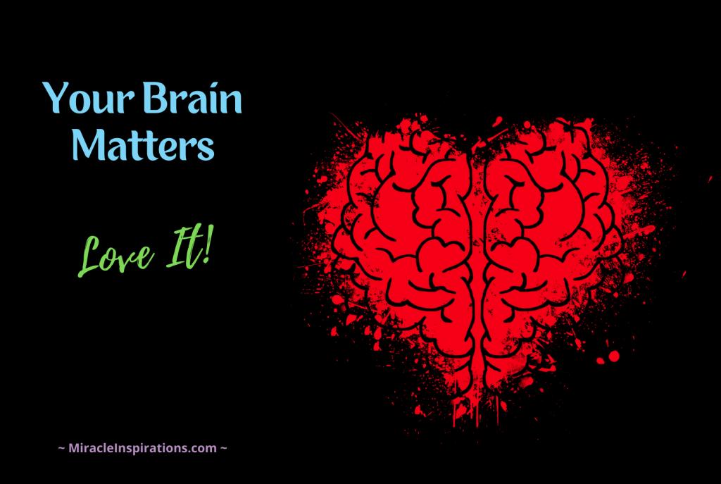 Love your Brain, red heart brain